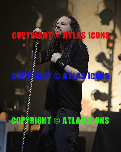 MIAMI BEACH FL - OCTOBER 16: Jonathan Davis of Korn performs at The Fillmore on October 16, 2015 in Miami Beach, Florida. Credit Larry Marano © 2015