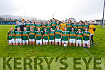 The Kerrry senior team against Waterford in the LGFA National football league in Strand Road on Saturday.