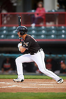 Erie SeaWolves left fielder Jason Krizan (14) during a game against the Bowie Baysox on May 12, 2016 at Jerry Uht Park in Erie, Pennsylvania.  Bowie defeated Erie 6-5.  (Mike Janes/Four Seam Images)