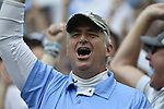 30 MAY 2016: North Carolina fans are seen during the Division 1 Men's Lacrosse Championship between the University of Maryland and the University of North Carolina at Lincoln Financial Field in Philadelphia, PA. Larry French/NCAA Photos