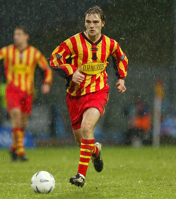 David Rowson, Partick Thistle.pic willie vass