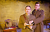 Not About Heroes <br /> by Stephen MacDonald <br /> directed by Caroline Clegg <br /> at Trafalgar Studios, London, Great Britain <br /> press photocall <br /> 10th November 2014 <br /> <br /> Simon Jenkins as Wilfred Owen <br /> <br /> Alasdair Craig as Siegfried Sassoon<br /> <br /> Photograph by Elliott Franks <br /> Image licensed to Elliott Franks Photography Services