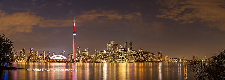 60912-00318 Toronto skyline at night from Toronto Island Park Toronto, Ontario Canada
