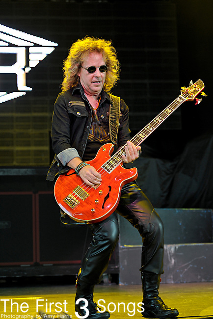 Jack Blades of Night Ranger performs at Riverbend Music Center in Cincinnati, Ohio on August 3, 2011.