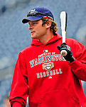 13 April 2009: Washington Nationals' outfielder Austin Kearns awaits his turn in the batting cage prior to facing the Philadelphia Phillies at the Nats' Home Opener at Nationals Park in Washington, DC. The Nats fell short in their 9th inning rally, losing 9-8, and marking their 7th consecutive loss of the season. Mandatory Credit: Ed Wolfstein Photo