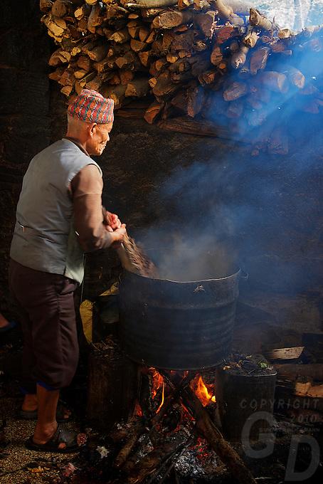 Dakshinkall Bungamati, Khokana Animal sacrifice Temple, Kathmandu, Nepal