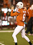 Texas Longhorns quarterback Case McCoy (6) in action during the Texas A & M vs. Texas Longhorns football game at the Darrell K Royal - Texas Memorial Stadium in Austin, Tx. Texas A & M defeats Texas 24 to 17....