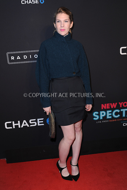 WWW.ACEPIXS.COM<br /> March 26, 2015 New York City<br /> <br /> Lily Rabe attending the 2015 New York Spring Spectacular at Radio City Music Hall on March 26, 2015 in New York City.<br /> <br /> Please byline: Kristin Callahan/AcePictures<br /> <br /> ACEPIXS.COM<br /> <br /> Tel: (646) 769 0430<br /> e-mail: info@acepixs.com<br /> web: http://www.acepixs.com