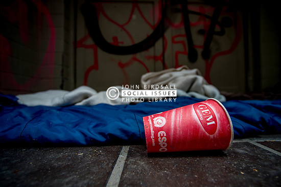 The belongings left on the street or the environment people are rough sleeping in. Sheffield UK