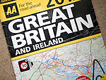 AA Great Britain and Ireland road atlas front cover, UK