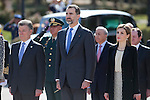 Spanish Royals King Felipe VI of Spain and Queen Letizia of Spain during the Colombia´s President Juan Manuel Santos welcome ceremony at the Pardo Palace in Madrid, Spain. March 01, 2015. (ALTERPHOTOS/Victor Blanco)