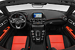 Stock photo of straight dashboard view of a 2018 Mercedes Benz AMG GT base 2 Door Roadster