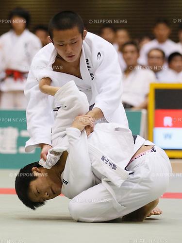 Taichi Suyama (), Yuta Higuchi (), SEPTEMBER 12, 2015 - Judo : All Japan Juior Judo Championships Men's -55kg Final at Saitama Kenritsu Budokan in Saitama, Japan. (Photo by Sho Tamura/AFLO SPORT)