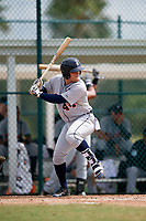 Detroit Tigers Andres Sthormes (44) at bat during an Instructional League game against the Pittsburgh Pirates on October 6, 2017 at Pirate City in Bradenton, Florida.  (Mike Janes/Four Seam Images)