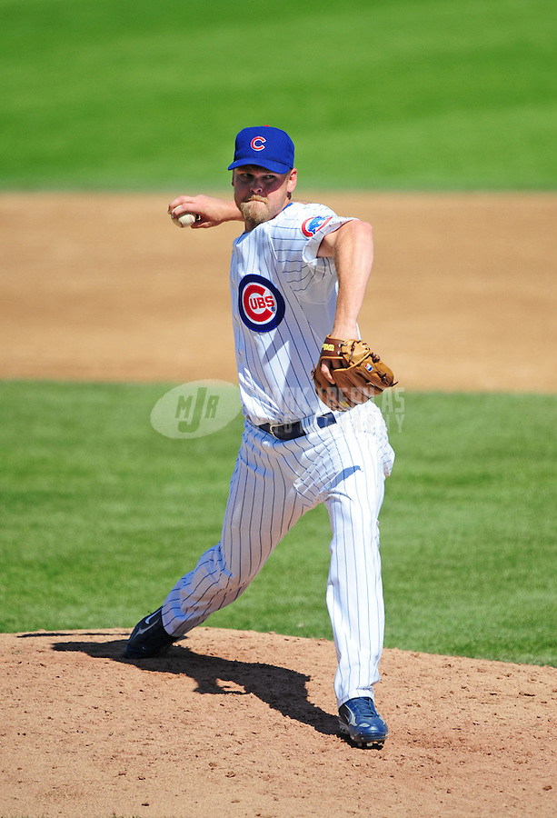 Mar 20, 2008; Mesa, AZ, USA; Chicago Cubs pitcher Kerry Wood against the Colorado Rockies at HoHoKam Park. Mandatory Credit: Mark J. Rebilas-