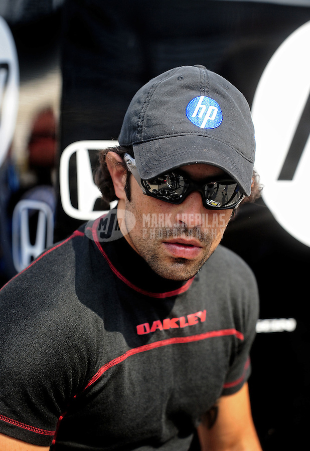 May 28, 2010; Indianapolis, IN, USA; IndyCar Series driver Raphael Matos during carb day prior to the Indianapolis 500 at the Indianapolis Motor Speedway. Mandatory Credit: Mark J. Rebilas-