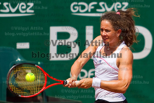 Patti Schnyder (SUI) plays during the Gaz de France Suez WTA tour Grand Prix international women tennis competition held at Roman Tennis Academy in Budapest, Hungary. Tuesday, 06. July 2010. ATTILA VOLGYI