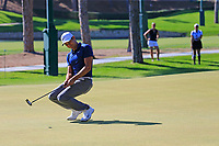 Julian Suri (USA) putts on the 3rd green during Saturday's Round 3 of the 2018 Turkish Airlines Open hosted by Regnum Carya Golf &amp; Spa Resort, Antalya, Turkey. 3rd November 2018.<br /> Picture: Eoin Clarke | Golffile<br /> <br /> <br /> All photos usage must carry mandatory copyright credit (&copy; Golffile | Eoin Clarke)