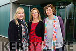 Louise Collins Tralee,Norrie O'Connell Causeway and Denise Trainer Kilgarvan at the Kerry Autism Action one day conference at the  IT Tralee Solas Building on Saturday