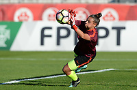 20171024 - PENAFIEL , PORTUGAL :  Portugese Rute Costa pictured during warming up of a women's soccer game between Portugal and the Belgian Red Flames , on tuesday 24 October 2017 at Estádio Municipal 25 de Abril in Penafiel. This is the third game for the  Red Flames during the Worldcup 2019 France qualification in group 6. PHOTO SPORTPIX.BE | DAVID CATRY