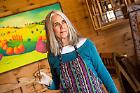 Painter Anne Cady at her New Haven, Vermont studio.