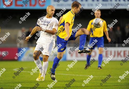 2012-09-28 / Voetbal / seizoen 2012-2013 / De Kempen - Gooreind / Sababti met Gianni Convalle (De Kempen)..Foto: Mpics.be