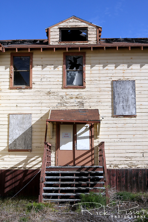 Abandoned building at the closed Mare Island Naval Shipyard near Vallejo, California
