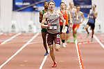 NAPERVILLE, IL - MARCH 11: Joe Hinz of UW-La Crosse leads in the men's 800 meter run at the Division III Men's and Women's Indoor Track and Field Championship held at the Res/Rec Center on the North Central College campus on March 11, 2017 in Naperville, Illinois. (Photo by Steve Woltmann/NCAA Photos via Getty Images)
