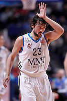 Real Madrid's Sergio Llull celebrates during Euroleague 2012/2013 match.December 13,2012. (ALTERPHOTOS/Acero) /NortePhoto