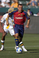Chris Brown dribbles. The Los Angeles Galaxy defeated Real Salt Lake, 3-2, at the Home Depot Center in Carson, CA on Sunday, June 17, 2007.