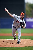Detroit Tigers pitcher Mike Pelfrey (37) delivers a pitch during a Spring Training game against the New York Yankees on March 2, 2016 at George M. Steinbrenner Field in Tampa, Florida.  New York defeated Detroit 10-9.  (Mike Janes/Four Seam Images)