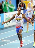 ISTAMBUL, TURQUIA, 10 DE MARCO 2012 - MUNDIAL DE ATLETISMO INDOOR -  Nery Brenes atleta da Costa Rica vencedor nos 400m para homens no Campeonato Mundial de Atletismo Indoor na Atakoy Arena, em Istambul na Turquia, neste sabado, 10. (FOTO: SOENAR CHARMID / BRAZIL PHOTO PRESS).