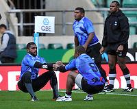 Twickenham, England. during the Fiji captains run for the QBE Internationals England v Fiji at Twickenham Stadium on 10 November. Twickenham, England, November 9. 2012.