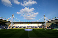 A general view of Deepdale Stadium, home of Preston North End FC<br /> <br /> Photographer Alex Dodd/CameraSport<br /> <br /> The EFL Sky Bet Championship - Preston North End v Leeds United -Tuesday 9th April 2019 - Deepdale Stadium - Preston<br /> <br /> World Copyright &copy; 2019 CameraSport. All rights reserved. 43 Linden Ave. Countesthorpe. Leicester. England. LE8 5PG - Tel: +44 (0) 116 277 4147 - admin@camerasport.com - www.camerasport.com