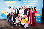 "Salva Reina, Silvia Alonso, Rossy de Palma, Eduardo Casanova, director of the film Alvaro Diaz Lorenzo, David Guapo, Megan Montaner, Jordi Sanchez and Bore Buika attends to premiere of ""Senor, dame paciencia"" at Fortuny Palace in Madrid, June 15, 2017. Spain.<br /> (ALTERPHOTOS/BorjaB.Hojas)"