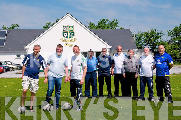 World Record Attempt : Picture at Listowel Celtic Grounds to announce  details of a World record attempt at the most Consecutive Futsal penalties to be scored at Listowel Celtic' grounds on July 6th next were Riobard Pierse, Aidan O'Connor, Mark Loughnane, Mike Barry, Paddy Mulvihill, Martin McCarthy, Christy Sheehy, Liam Kennedy & Dominick Scanlon.