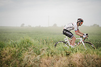 Kévin Ledanois (FRA/Arkéa-Samsic) racing over the Breton gravel roads<br /> <br /> 36th TRO BRO LEON 2019 (FRA)<br /> One day race from Plouguerneau to Lannilis (205km)<br /> <br /> ©kramon