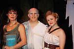 "Curtain Call - Colleen Zenk ""Anticleia"" - Eddie Korbich ""Posidon"" - Emma Zaks ""Athena""- Opening Night of Odyssey - The Epic Musical starring Colleen Zenk, Edddie Korbich, Josh A. Davis, Emma Zaks and Janine DiVita and cast on October 23, 2011 at the American Theatre of Actors, New York City, New York. (Photo by Sue Coflin/Max Photos)"