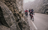 Nicolas Roche (IRE/BMC) leading breakaway group<br /> <br /> 76th Paris-Nice 2018<br /> Stage 7: Nice &gt; Valdeblore La Colmiane (175km)