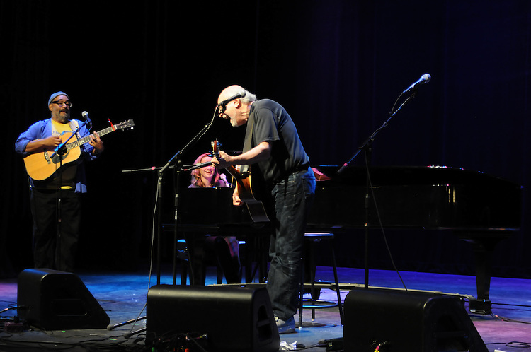 Vance Gilbert, Susan Werner, and Peter Yarrow, performing at the 3rd Annual Patchogue Folk Music Festival, at the Patchogue Theater for the Performing Arts (71 Main Street) in Patchogue, NY on Saturday, April 9, 2011. Photo by Jim Peppler. Copyright Jim Peppler/2011.