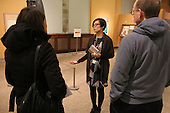 During a Chicago Public Schools Arts Liasion Welcome Event held Thursday evening at the Oriental Institute, 1155 E. 58th Street, K – 12th were given the opportunity to tour the museum's galleries with guide, Carol Ng-He (center) of the Oriental Institute.