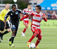 Santa Clara, California - Saturday July 18, 2012: FC Dallas' David Ferreira controls the ball away from San Jose Earthquakes' at Buck Shaw Stadium, Stanford, Ca   San Jose Earthquakes defeated FC Dallas 2 - 1.