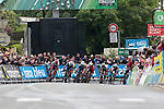 200m to the finish line and it's anyone's race during Stage 1 of the Criterium du Dauphine 2019, running 142km from Aurillac to Jussac, France. 9th June 2019<br /> Picture: Colin Flockton | Cyclefile<br /> All photos usage must carry mandatory copyright credit (© Cyclefile | Colin Flockton)