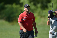 Bethesda, MD - June 29, 2014: Patrick Reed walks from the 11th hole tee during the Final Round of the Quicken Loans National at the Congressional Country Club in Bethesda, MD, June, 29, 2014. Reed double-bogeyed after sitting atop the Leaderboard at the start of the round. (Photo by Don Baxter/Media Images International)