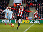 John Lundstram of Sheffield Utd  appeals a decision during the Championship match at Bramall Lane Stadium, Sheffield. Picture date 26th December 2017. Picture credit should read: Simon Bellis/Sportimage