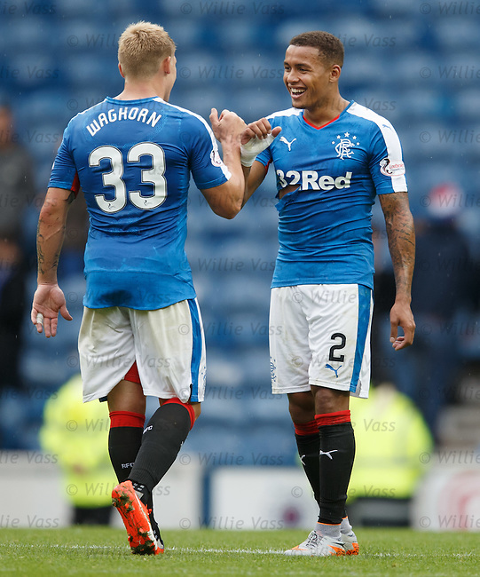 James Tavernier and Martyn Waghorn at full-time