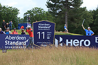 Edoardo Molinari (ITA) on the 11th during Round 3 of the Aberdeen Standard Investments Scottish Open 2019 at The Renaissance Club, North Berwick, Scotland on Saturday 13th July 2019.<br /> Picture:  Thos Caffrey / Golffile<br /> <br /> All photos usage must carry mandatory copyright credit (© Golffile | Thos Caffrey)