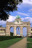 Belgium Brussels Arch of Cinquatenaire colorful monument in Belgium