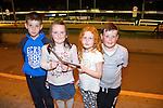 Ruri Burke, Amy O'Sullivan, John Wilkinson, Conor Wilkinson, (Ballymacelligott and Castelisland) enjoying a night at the dogs at the Kingdom Greyhound Stadium on Friday