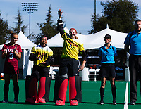 Stanford, California -November 3, 2018: The Stanford Cardinal Field Hockey Team loses to Maine 3-0 in the America East Conference Championship Semifinals at Varsity Field Hockey Turf  in Stanford, California.